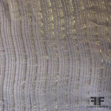 Metallic Striped Silk Chiffon - Purple/Silver