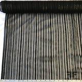 Metallic Striped Silk Chiffon Burnout - Black/Gold