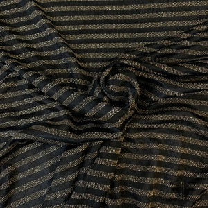 Metallic Striped Rayon Knit - Gold/Black