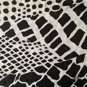 Italian Animal Printed Silk Jacquard Blend - Black/White
