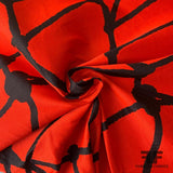 Italian Abstract Heavy-Weight Brocade - Red/Black