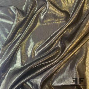 Sheer Metallic Lame - Gold/Black