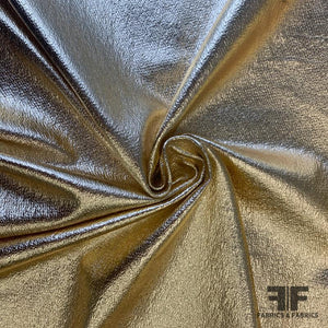 Italian Foil Printed Stretch Knit - Gold