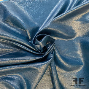 Italian Metallic Novelty Silk - Blue