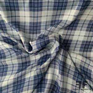 Plaid Silk Georgette - Blue/Multicolor