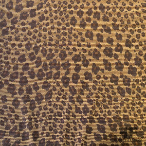 Cheetah Printed Silk Crepe de Chine - Brown/Black