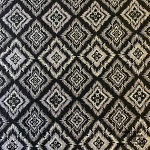 Metallic Diamond-Medallion Jacquard Brocade - Silver/Black