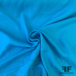 Natural Woven Linen - Turquoise