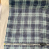 Plaid Crinkled Silk Chiffon - Blue/Multicolor