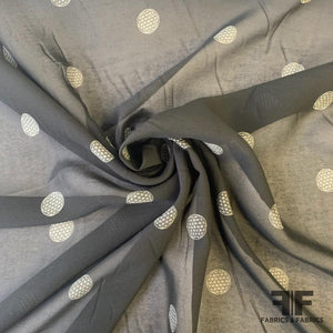Circle Medallion Silk Chiffon - Black/White