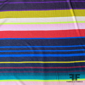 Light-Weight Striped Cotton Jersey - Multicolor