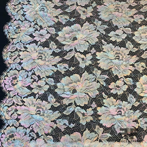 French Chantilly Lace  Metallic - Multicolor