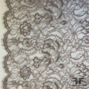 French Chantilly Lace Slight Cording - Biege