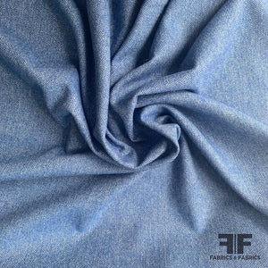 Italian Wool Herringbone - Blue
