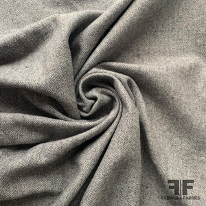 Italian Wool Herringbone - Steel Grey