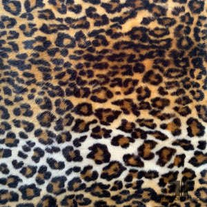 Cheetah Printed Faux Fur - Black/Tan/Nude