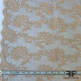 French Swirl Floral Chantilly Lace - Nude