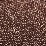 Polka Dot Printed Cotton - Brown/Cream