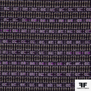 Geometric Wool Tweed - Purple