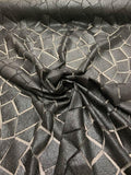 Christian Siriano Mosaic Geometric Novelty Embroidered Netting - Black