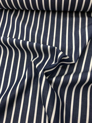 Striped Yarn Dyed Cotton - Blue / White