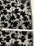 Wild Flower Cut Velvet - Black