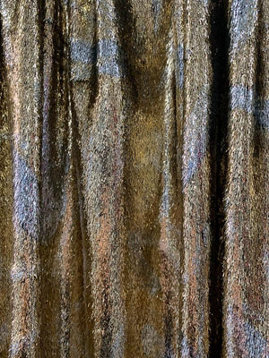 French Metallic Panne Velvet - Gold / Silver