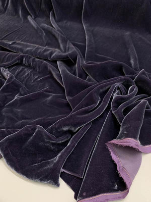 Solid Velvet - Deep Grape Purple