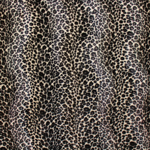 Leopard Print Faux Fur - Black/White/Grey