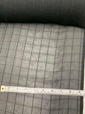 Windowpane Jacquard Weave Silk Chiffon - Black