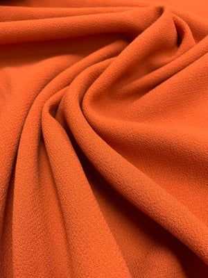 Italian Quality Double Wool Crepe - Deep Orange