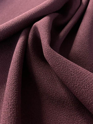 Italian Quality Double Wool Crepe - Plum Purple