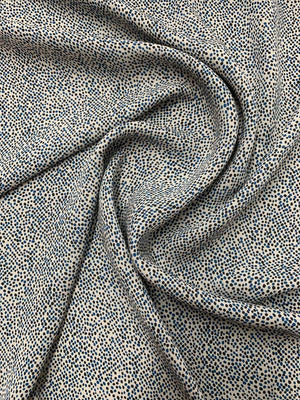 Mini Dotted Printed Silk Georgette - Blue / Black / Grey