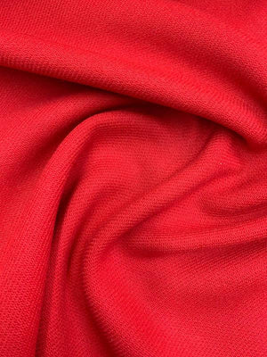 Twill Wool Coating - Red