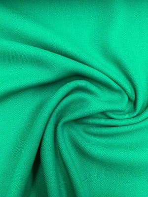 Twill Wool Coating - Emerald Green