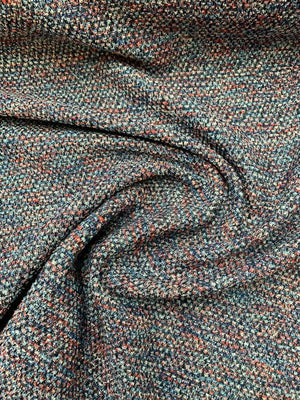Italian Fine Tweed Suiting - Blue / Red / White