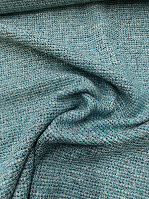 Italian Tweed with Lurex Suiting - Blue / White / Black