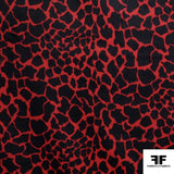 Giraffe Animal Printed Wool- Red/Black