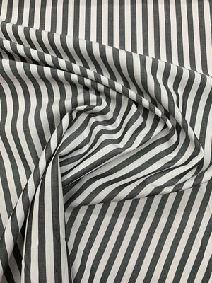 Striped Cotton Shirting - Black / White
