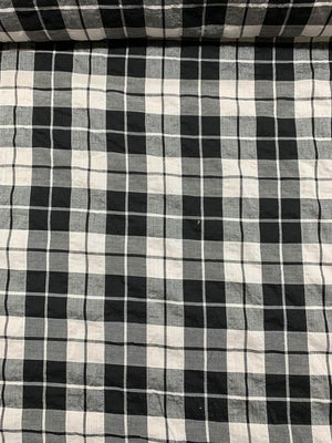 Plaid Cotton Shirting - Black / White