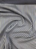 Italian Striped Cotton Shirting - Blue / White