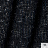 Plaid Wool Suiting - Black