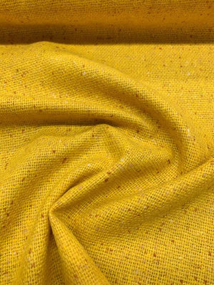Italian Speckled Jacket-Weight Wool Suiting - Yellow / Orange
