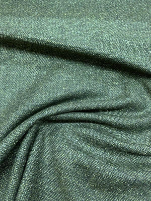 Italian Heathered Wool Suiting - Forest Green