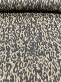 Italian Cheetah Mohair-Like Wool Coating - Black / Brown