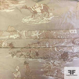 Metallic Toile Brocade - Brown/Gold
