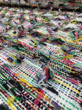 Novelty Chanel-Like Fringe Tweed Suiting - Multicolor