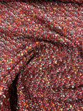 Chanel-Like Wool Tweed - Red / Multicolor