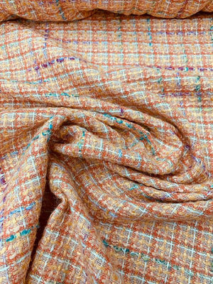 Classic Woven Tweed Suiting - Orange