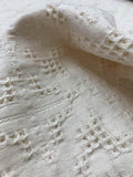 Art Deco Pattern Woven Cotton Jacquard - Cream